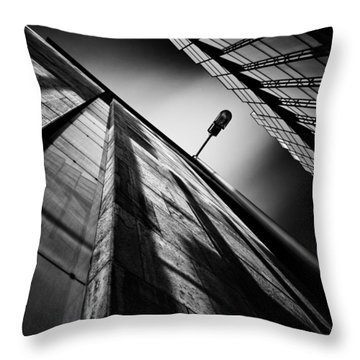 Alley Lamp Throw Pillow by Dave Bowman