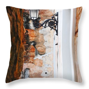 Alley Of Jail Throw Pillow