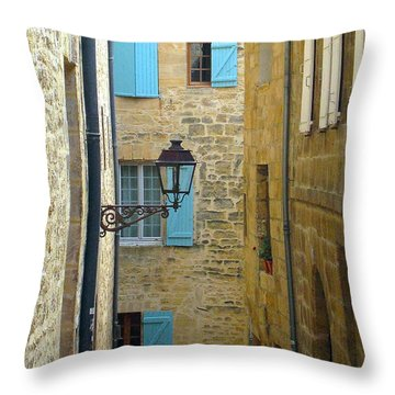 Alleys Of Sarlat II Throw Pillow by Suzanne Oesterling