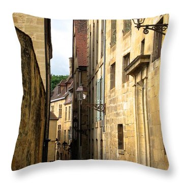 Alleys Of Sarlat Throw Pillow by Suzanne Oesterling