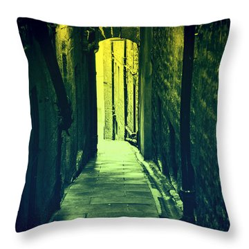Throw Pillow featuring the photograph Alleyway by Craig B