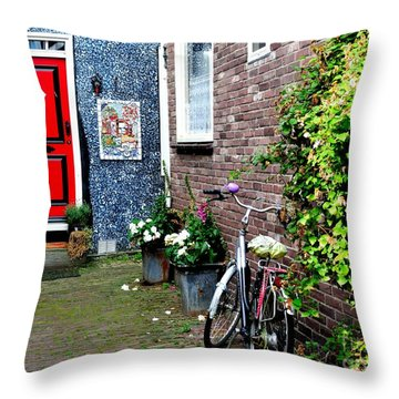 Throw Pillow featuring the photograph Alleyway In Dutch Village by Joe  Ng