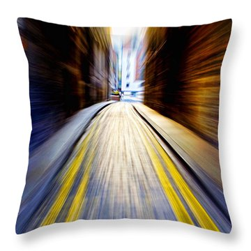 Alleyway With Motion Throw Pillow