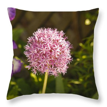 Allium And Iris Throw Pillow