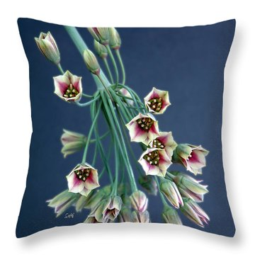 Allium Bells Throw Pillow