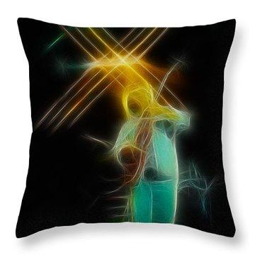 Allman-dickie-95-ga14a-fractal Throw Pillow by Gary Gingrich Galleries