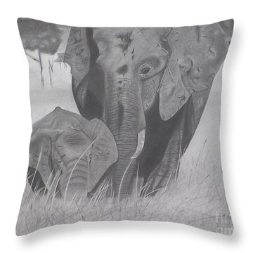 Allmother Throw Pillow