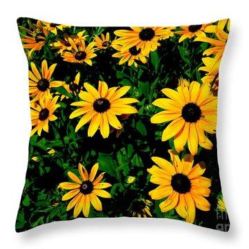 Sunflower Allure Throw Pillow