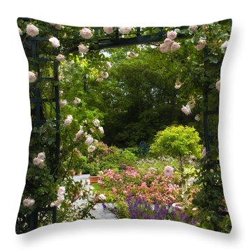 Allure Of Roses Throw Pillow