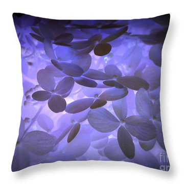Alluring Hydrangeas Throw Pillow