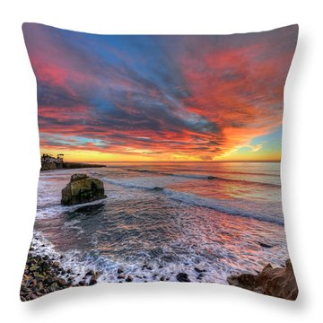 Alluring Sunset Throw Pillow