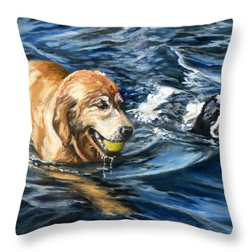 Ally And Smitty Throw Pillow