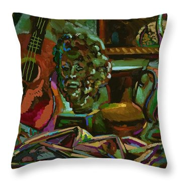 Throw Pillow featuring the digital art Almeria by Clyde Semler