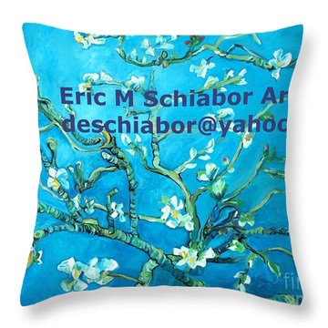 Almond Blossom Branches Throw Pillow