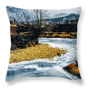 Almost Frozen Throw Pillow