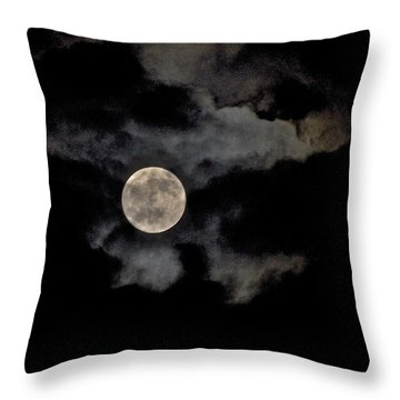 Almost Full Moon Throw Pillow by Joe  Burns
