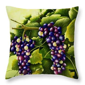 Almost Harvest Time Throw Pillow