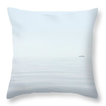 Almost Invisible Throw Pillow by Karol Livote