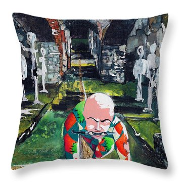 Almost Safe Among The Fittest Throw Pillow by Elisabeta Hermann