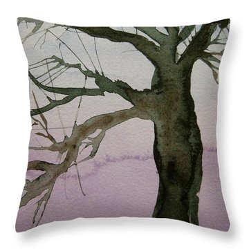 Throw Pillow featuring the painting Almost Spring by Beverley Harper Tinsley