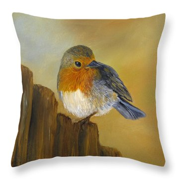 Throw Pillow featuring the painting Almost Spring by Roseann Gilmore