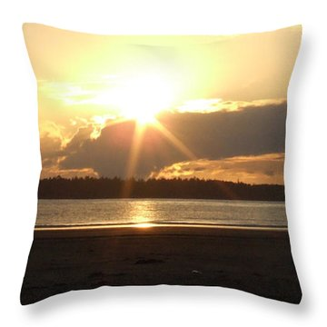 Almost Sundown Throw Pillow by Mark Alan Perry