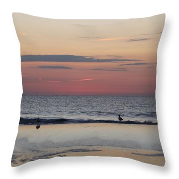 Throw Pillow featuring the photograph Almost Sunrise by Robert Banach