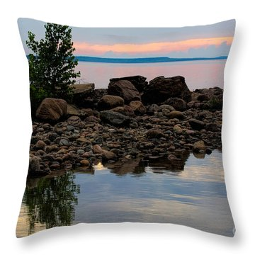 Almost Sunset At Awenda Beach Throw Pillow