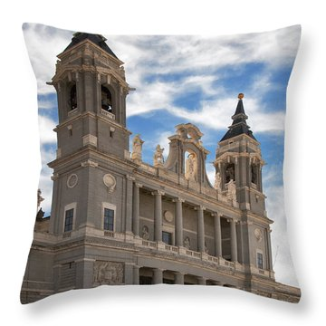 Almudena Cathedral Throw Pillow by Joan Carroll