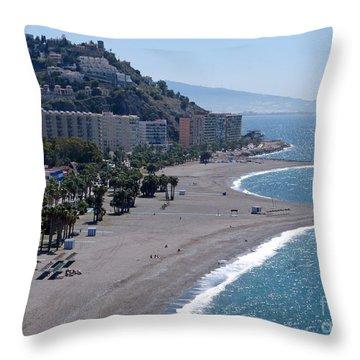 Almunecar Beach - Andalucia - Spain Throw Pillow