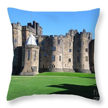 Throw Pillow featuring the photograph Alnwick Castle Castle Alnwick Northumberland by Paul Fearn