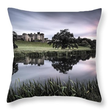 Alnwick Castle Sunset Throw Pillow