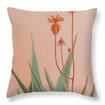 Aloe Family Throw Pillow