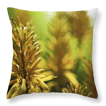Aloe 'kujo' Plant Throw Pillow