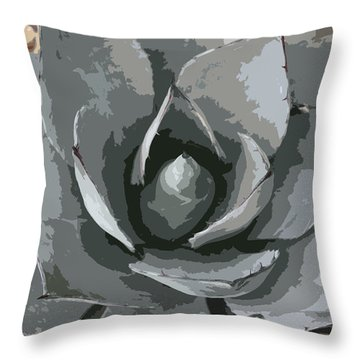 Aloe Vera Abstract Throw Pillow by Christiane Schulze Art And Photography