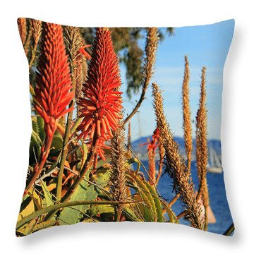 Aloe Vera Bloom Throw Pillow