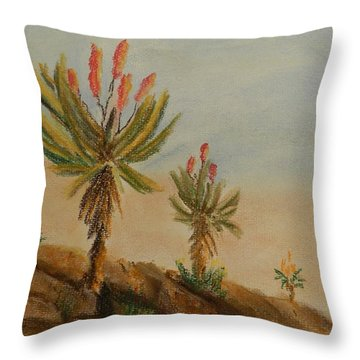 Aloes Throw Pillow