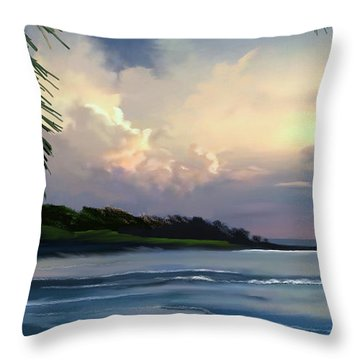 Throw Pillow featuring the digital art Aloha by Anthony Fishburne