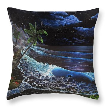 Aloha Luna Throw Pillow by Kevin F Heuman
