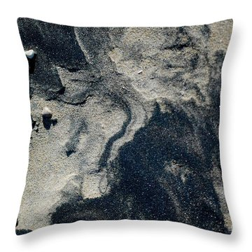 Throw Pillow featuring the photograph Alone Again by Christiane Hellner-OBrien