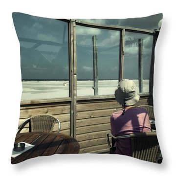 Throw Pillow featuring the photograph Alone Again by Michel Verhoef