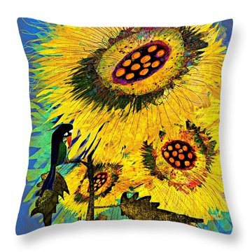 Alone Again Naturally Throw Pillow