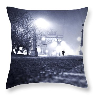 Alone Brooklyn Nyc Usa Throw Pillow by Sabine Jacobs