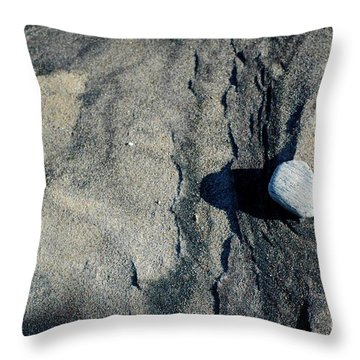 Throw Pillow featuring the photograph Alone by Christiane Hellner-OBrien