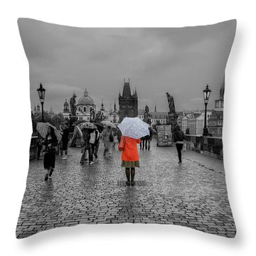 Alone In The Crowd Throw Pillow