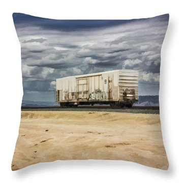 Throw Pillow featuring the digital art Alone In The Desert by Photographic Art by Russel Ray Photos