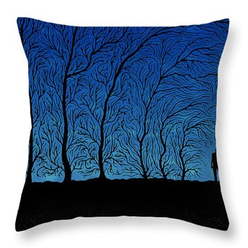 Alone In The Forrest Throw Pillow by Gianfranco Weiss