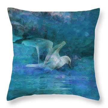 Alone Throw Pillow by Jack Zulli