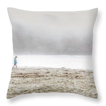 Alone Throw Pillow by Lisa Knechtel