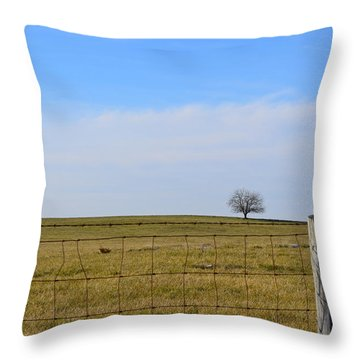 Alone Or Standing Out Throw Pillow